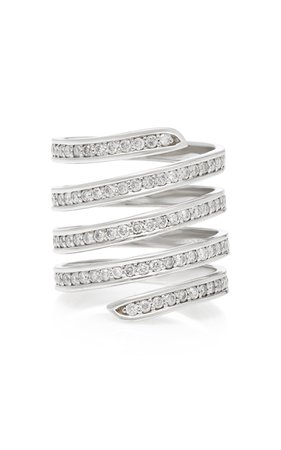 Coil Pavé Diamond Ring by Lynn Ban Jewelry | Moda Operandi