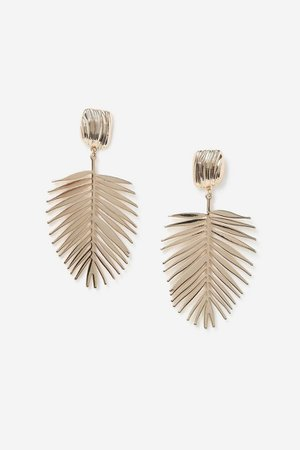 **Palm Leaf Drop Earrings | Topshop