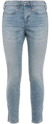 The Braided Caballo Cropped Mid-rise Skinny Jeans