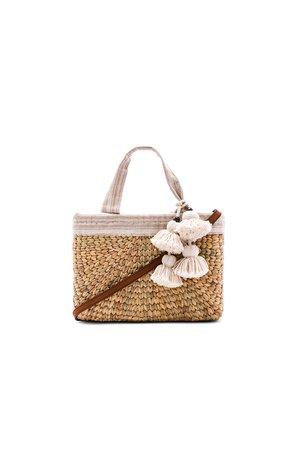 Sabai Mini Square Basket with Leather Handle