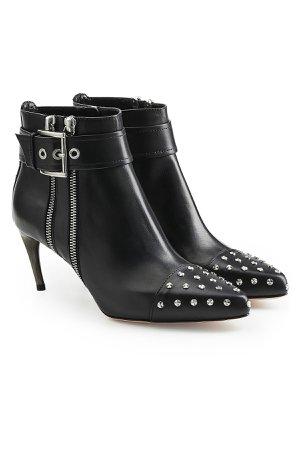 Embellished Leather Ankle Boots Gr. EU 36