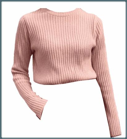 Pink Sweater Top Shirt
