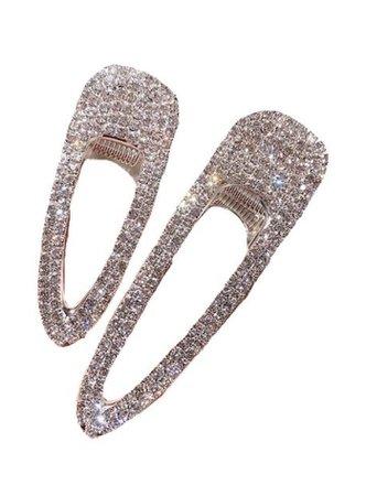 silver hair clips