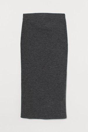 MAMA Ribbed Skirt - Black