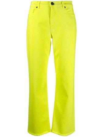 Etro frayed straight leg jeans