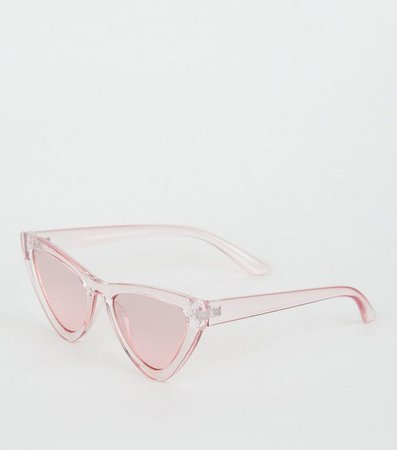 Pink Clear Cat Eye Sunglasses | New Look