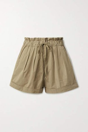 Giselle Stretch-cotton Shorts - Beige