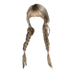 blonde grey/gray hair bangs braids png