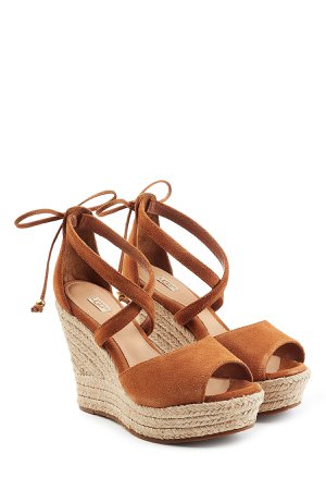 Suede Wedge Sandals Gr. US 5