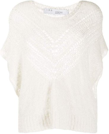Knitted Short-Sleeve Top