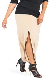 Kandi Zip Slit Maxi Skirt