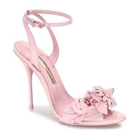 Light Pink Flower Sandal Heels