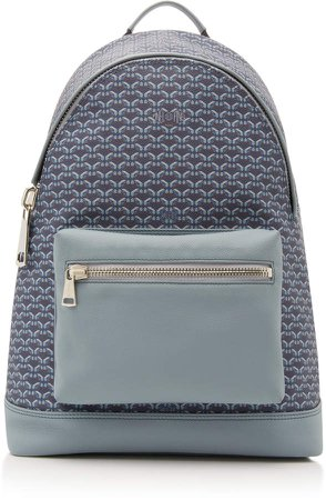 et Leather And Coated-Canvas Backpack