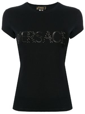 Versace embellished logo t-shirt