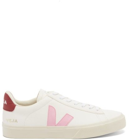 Campo Leather Trainers - Pink White