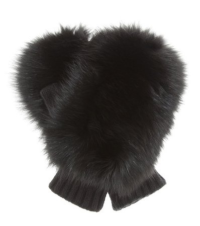 2 MONCLER 1952 fur-trimmed gloves