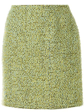Chanel Pre-Owned 1994s Above The Knee Tweed Skirt - Farfetch