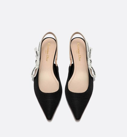 J'Adior ballerina in black technical canvas - Shoes - Woman | DIOR