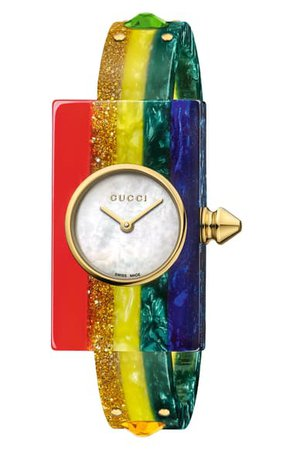 Gucci Plexiglas Bracelet Watch, 24mm x 40mm | Nordstrom