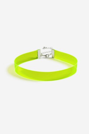 **Neon Green Choker Necklace | Topshop