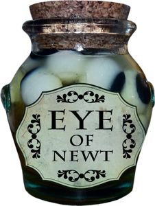 eye of newt potion bottle