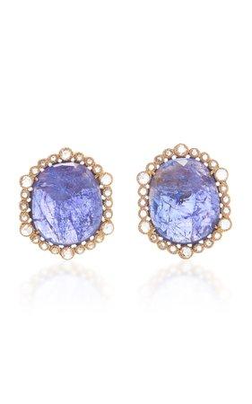 Amrapali Tanzanite and Diamond Earrings