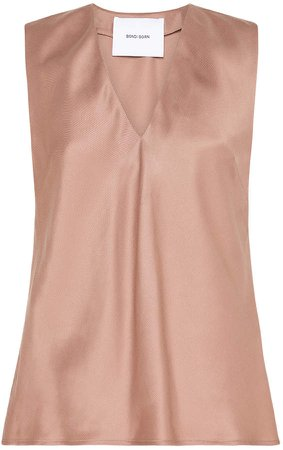 Sateen V-Neck Cami Top