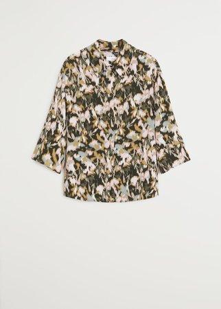 Print blouse - Women   Mango USA green