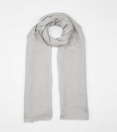 Grey Plain Scarf | New Look