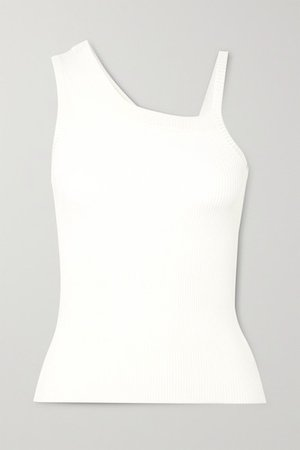Peter Do | Asymmetric ribbed jersey tank | NET-A-PORTER.COM