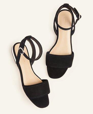 Adley Suede Sandals | Ann Taylor
