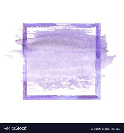 Purple watercolor grunge frame Royalty Free Vector Image