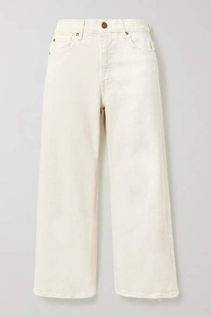 The Rider High-rise Wide-leg Jeans - White
