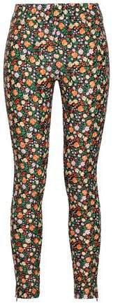 Floral-print Stretch-knit Leggings