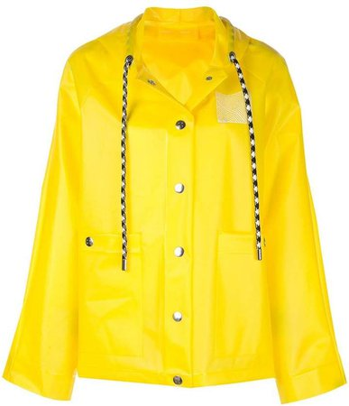 short printed raincoat