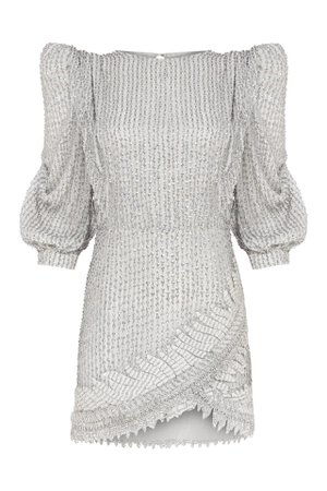 SEQUINED MINI DRESS WITH EMBROIDERY DETAIL | Raisa Vanessa