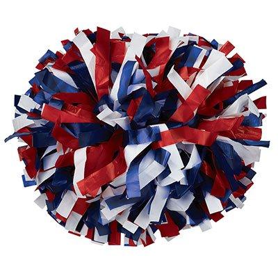 "6"" In-Stock Plastic 3 Color Baton Handle Cheerleading Pom"