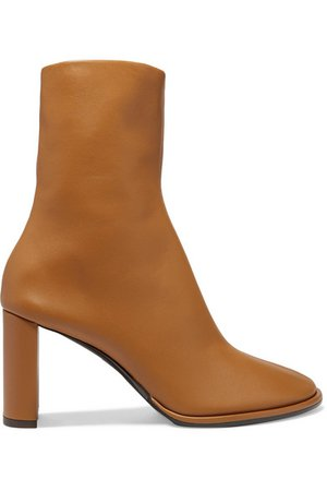 The Row   Teatime leather ankle boots   NET-A-PORTER.COM