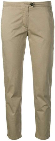 stretch slim-fit trousers