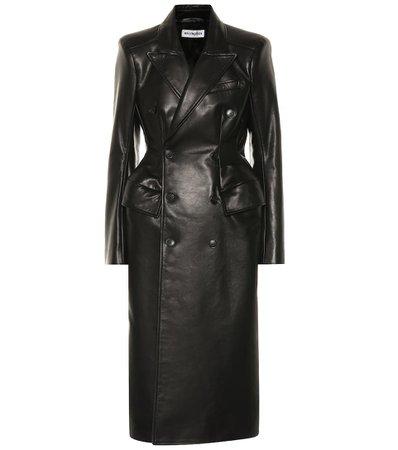 Balenciaga - Manteau Hourglass en cuir | Mytheresa