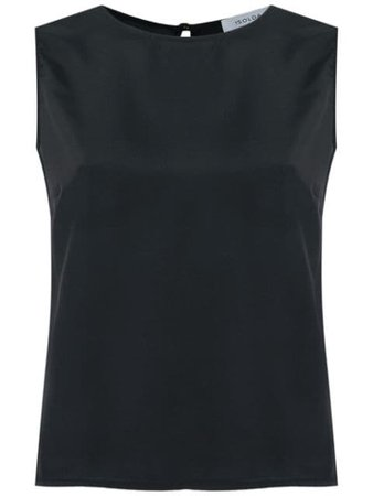 Shop black Isolda sleeveless silk blouse with Express Delivery - Farfetch