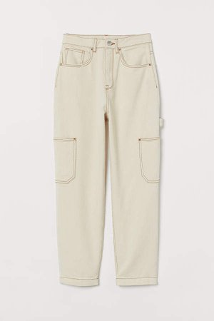 Ankle-length Utility Pants - Beige
