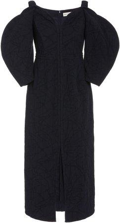 Mara Hoffman Leonara Off-The-Shoulder Cotton-Blend Dress