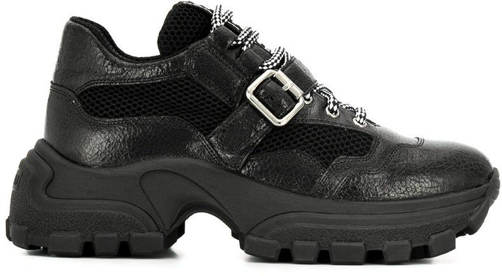 Buckle Strap Chunky Sneakers