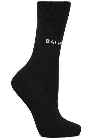 Balenciaga | Intarsia cotton-blend socks | NET-A-PORTER.COM