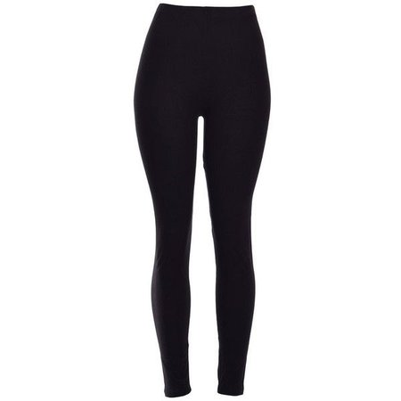 Black Solid Thick & Tight Leggings