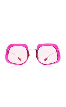 Barton Square-Frame Titanium Sunglasses by Kaleos Eyehunters | Moda Operandi