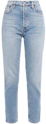 Cropped High-rise Slim-leg Jeans