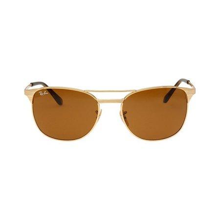 Ray-Ban - Ray-Ban Signet Metal Frame Brown Classic Lens Men's Sunglasses RB3429 - Walmart.com - Walmart.com