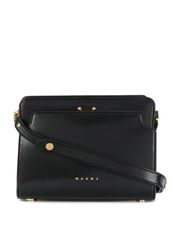 Marni Trunk Reverse Shoulder Bag SBMP0024Y0P2991 Black | Farfetch